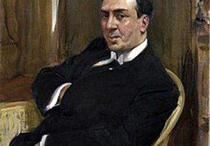 Retrato de Antonio Machado pintado por Sorolla