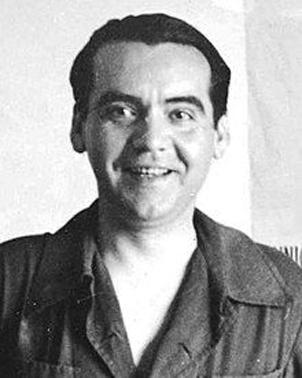 Fotografía en blanco y negro del rostro de Federico García Lorca