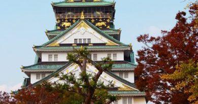 Castillo de Osaka ubicado en Osaka, Japón.