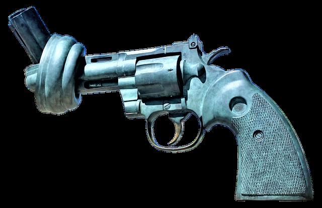Revolver con un nudo en el cañón