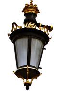 Detalle farola del Palacio Real en Madrid