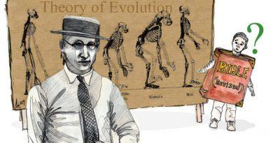 Ilustración del juicio del mono en un periódico de la época