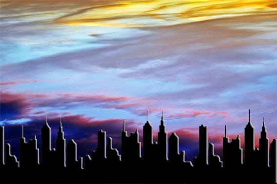silueta de la ciudad