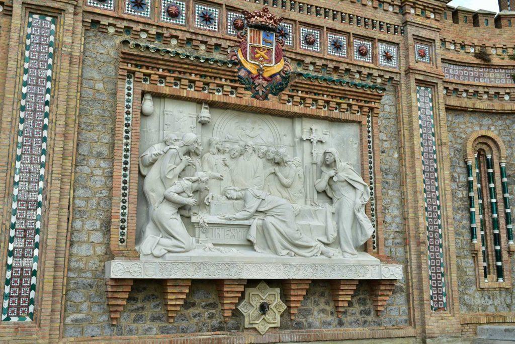 Detalle de la escalinata de Teruel en España