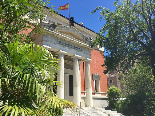 Fachada de la RAE en Madrid, España