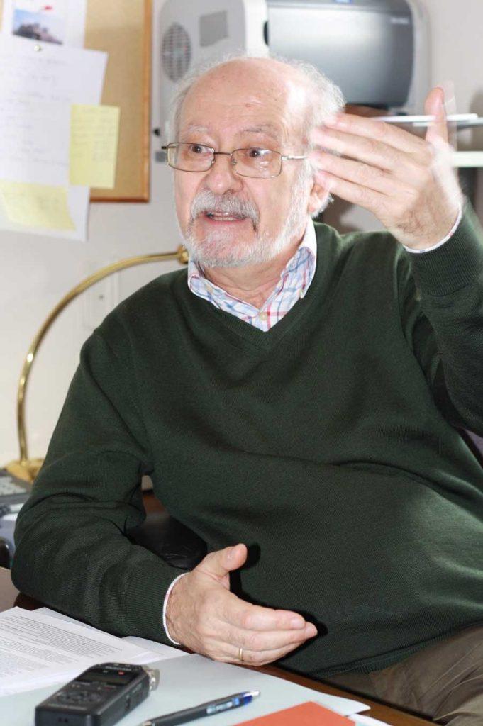 José Luis Turina en el transcurso de la entrevista