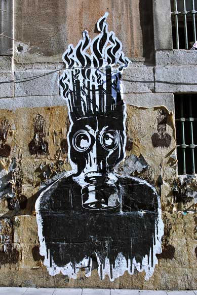 dibujo muro del centro autogesionado de la tabacalera de Madrid