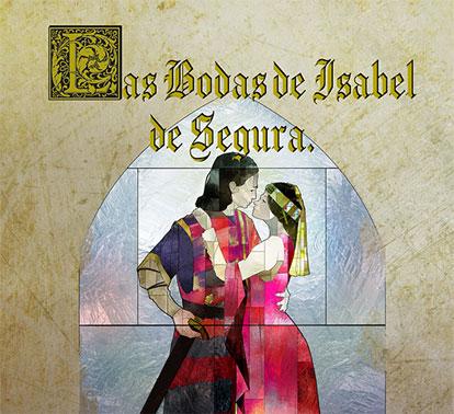 Detalle de cartel 2020 de las Bodas de Isabel de Segura