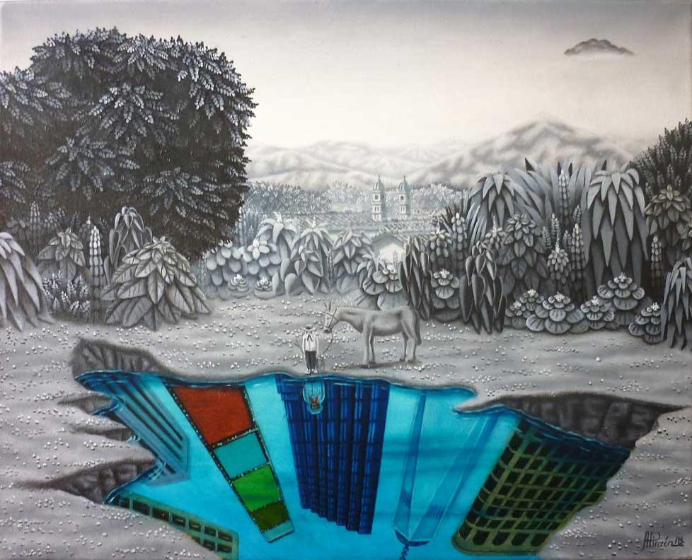 Cuadro de Alejandro Pinzón titulado Mirando al futuro