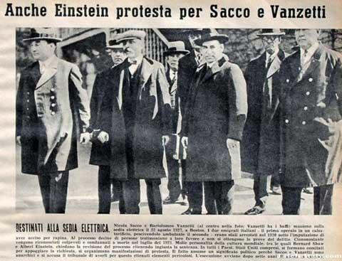 Apoyo de Einstein a los acusados
