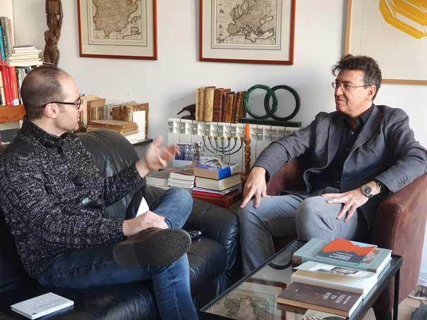 José María Sánchez-Verdú con Jorge Castro