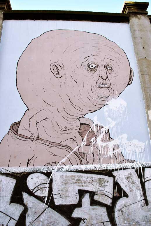 Obra de Nemo´s en muros tabacalera de Madrid