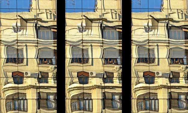 Reflejos de ventanas y balcones