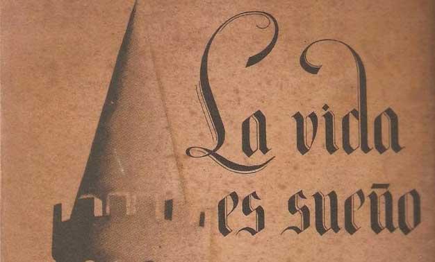 Detalle libro de la vida es sueño de Calderón de la Barca
