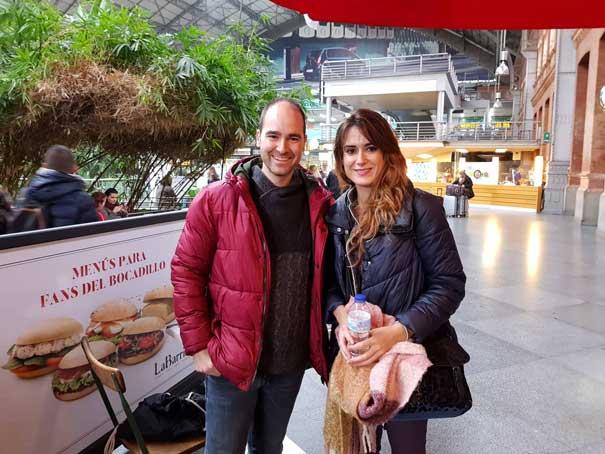 Elisa Urrestarazu con Jorge Castro