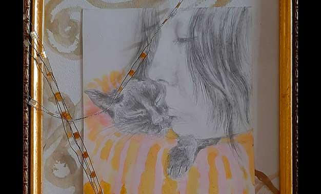 Detalle cuadro de Josephine Maldonado