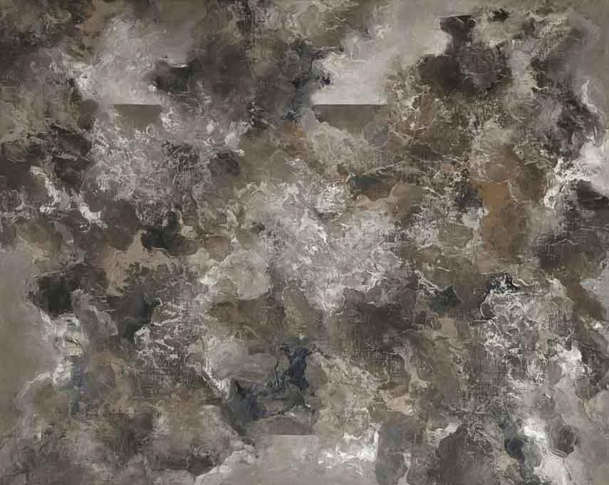©Héctor Villarroel, Port, 2014, detalle, óleo sobre lienzo, 81 x 100 cm, colección privada Hannover