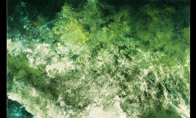 Héctor Villarroel, Forest, 2016, óleo sobre lienzo, 87 x 127 cm, colección privada Bruselas