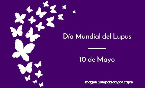 6 de mayo día mundial del lupus. Cartel