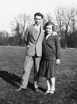 Émilienne Morin con su compañero Durruti