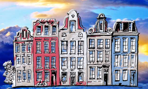 Dibujo de casas