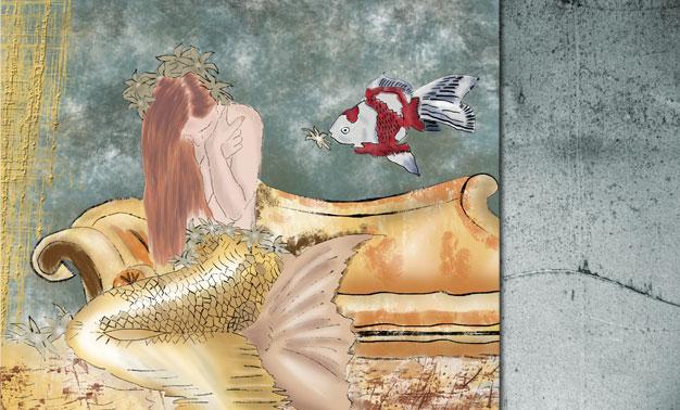 Dibujo sirena