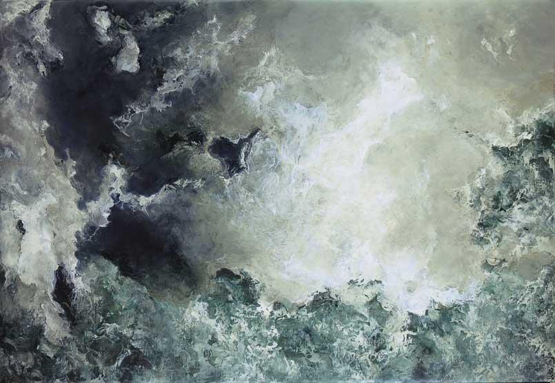Hector Villarroel, Bay, 2012, óleo sobre lienzo, 87 x 127 cm, colección privada Santiago, Chile