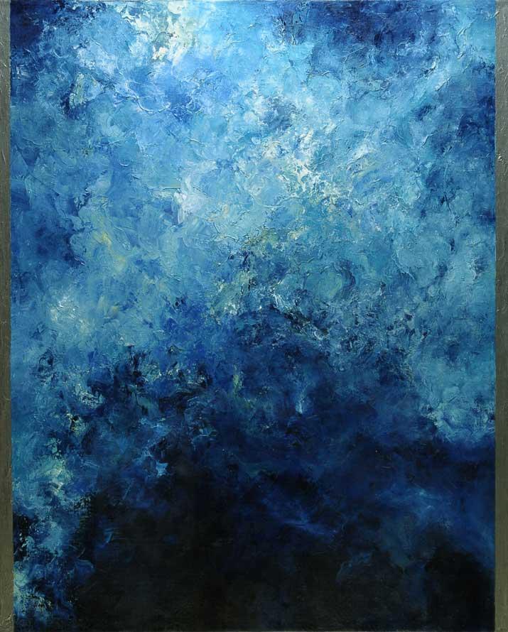 Hector Villarroel, Gravity Wave 1, 2014, óleo sobre lienzo, 100 x 81 cm, colección privada Santiago, Chile
