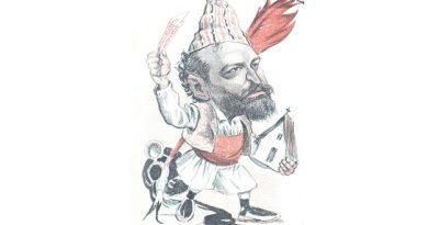 Caricatura de Blasco Ibáñez en Don Quijote, 1902.