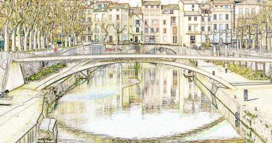 Dibujo del Puente de Narbona