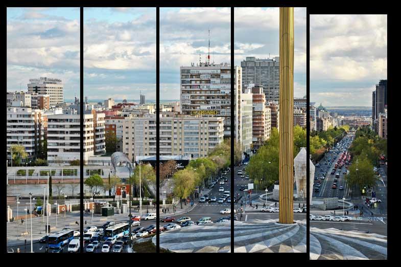 Plaza castilla en Madrid España