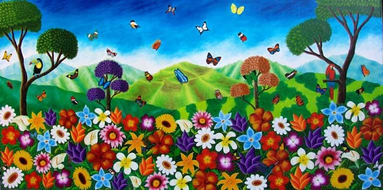 Flores y mariposas de mi tierra - ANGEL TANGUA-Colombia