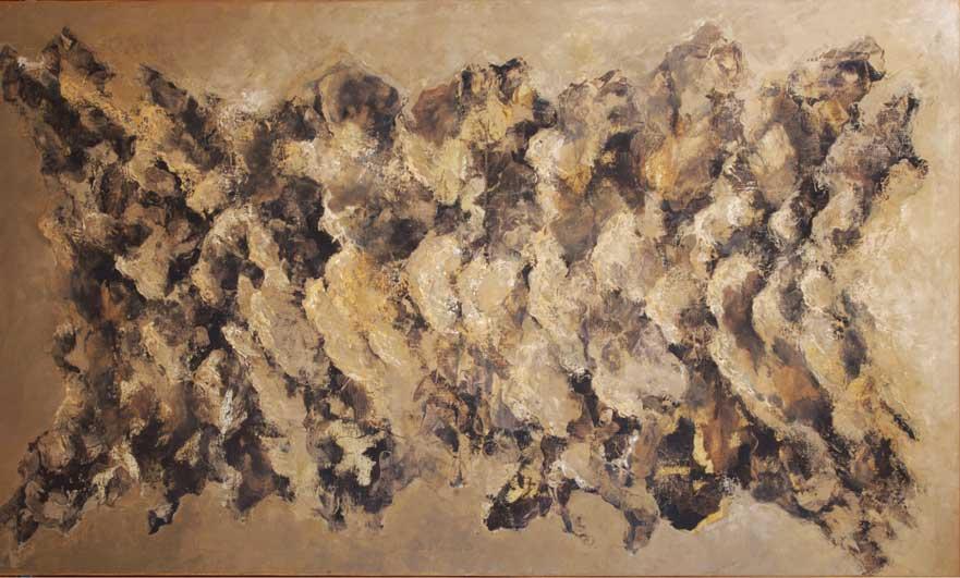 Héctor Villarroel, Bones, 2007, óleo sobre lienzo, 97 x 162 cm, colección privada Santiago, Chile
