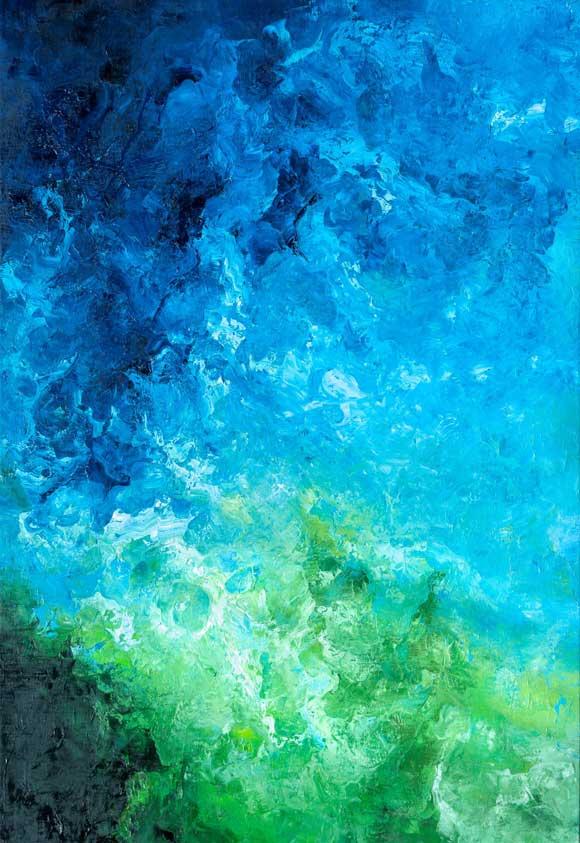 © Héctor Villarroel, Coral Water, 2013, óleo sobre lienzo, 127 x 87 cm, colección privada Bruselas
