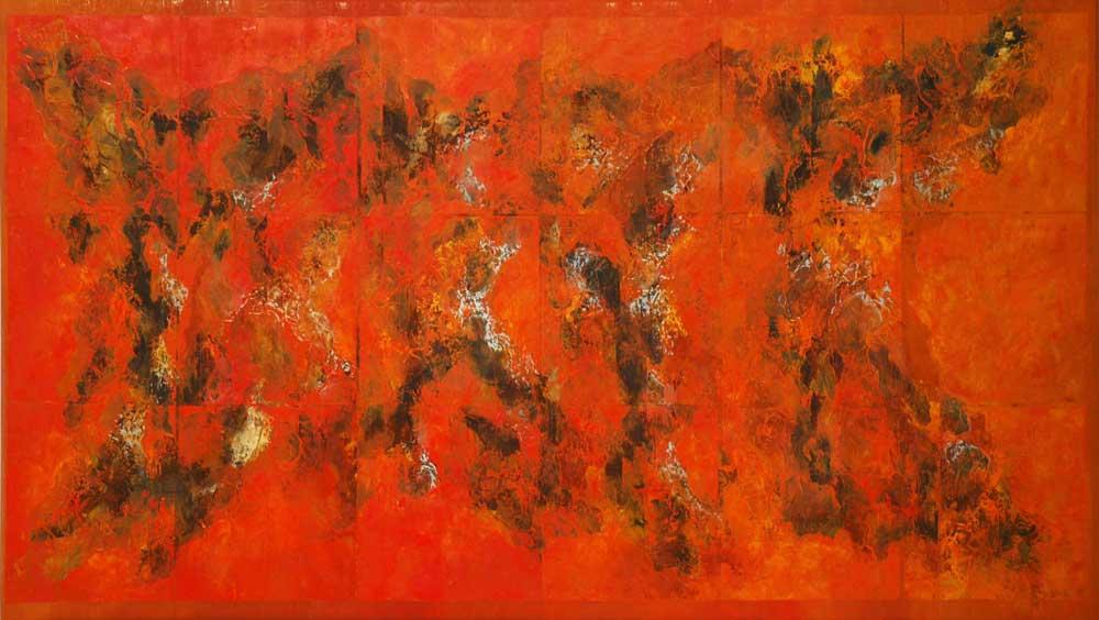 © Héctor Villarroel, Golden Tide, 2006, óleo sobre lienzo, 97 x 170 cm, colección privada Madrid