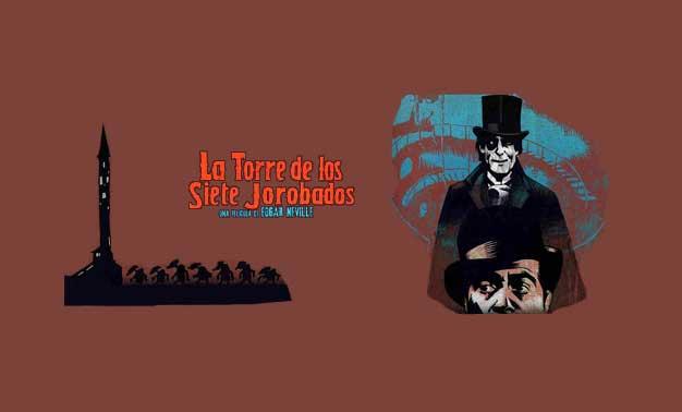 Cartel cine de la película la torre de los siete jorobados
