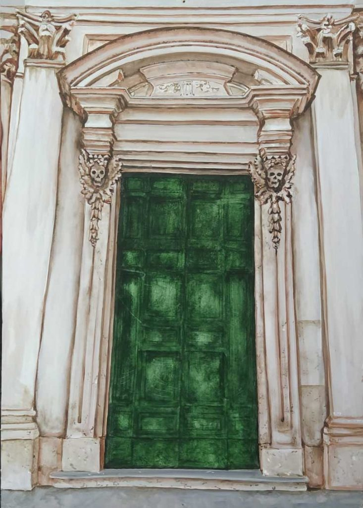 Convento de Nuestra Señora de la Muerte, Roma. Óleo de Emilio Poussa