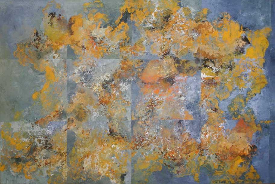 ©Hector Villarroel, Garden, 2009, óleo sobre lienzo, 73 x 116 cm. Colección privada, Osorno, Chile