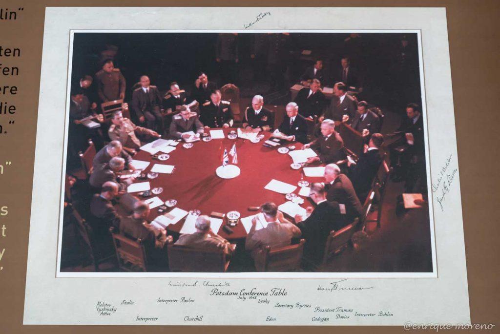 Nombres de políticos en el Palacio Cecilienhof