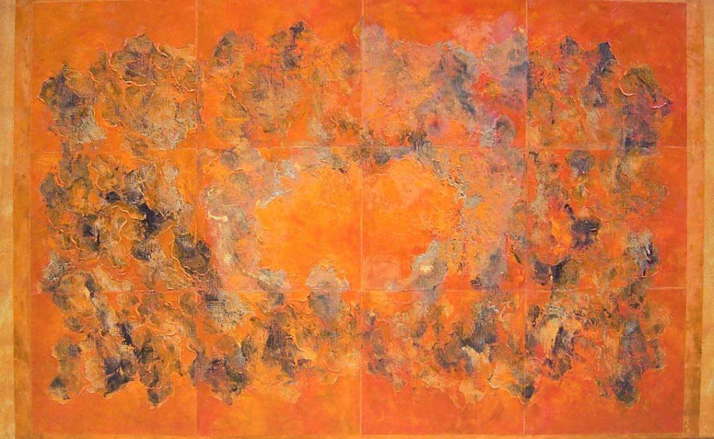 ©Hector Villarroel, Stone of fire, 2007, óleo sobre lienzo, 97 x 162 cm. Colección privada Bienne, Suiza