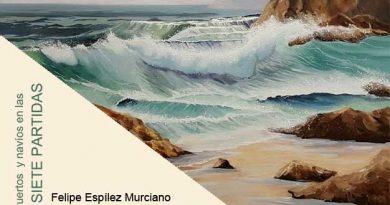 """Detalle portada libro de Felipe Espílez Murciano""""Puertos y navíos en las siete partidas"""""""