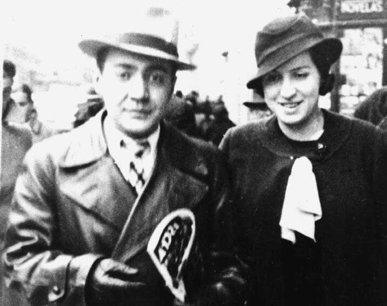 Amparo Barayón con Ramón J.Sender