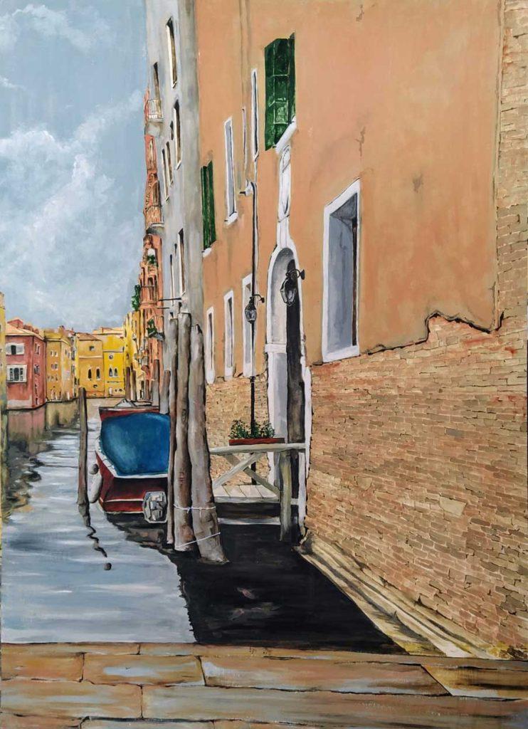 Canal. Óleo de Emilio Poussa