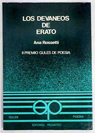 """Portad libro """"Los devaneos de Erato"""""""