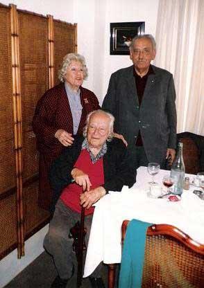 Adelita del Campo junto a Julián Antonio Ramírez y Rafael Alberti