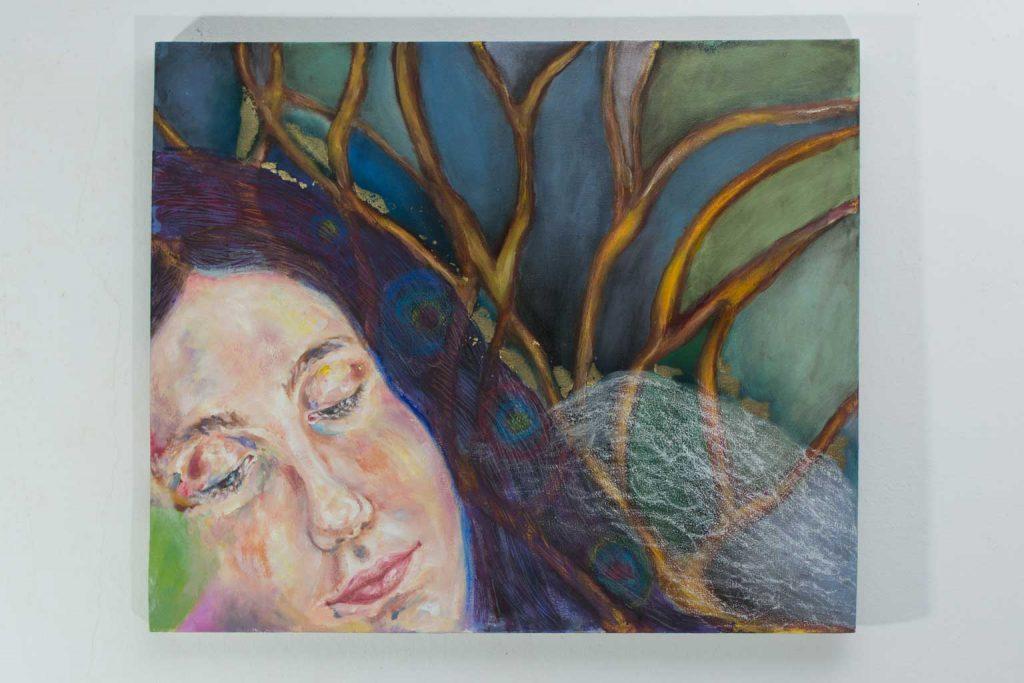 """Obra de la pintora Josephine Maldonado llamada """"Amor imposible"""""""