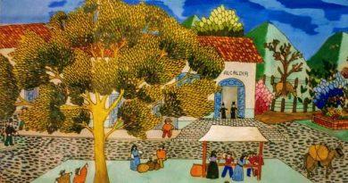 Detalle de la obra de Alejandro Pinzón titulada Mercado