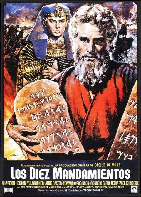 Cartel de MAC de la película Los diez mandamientos