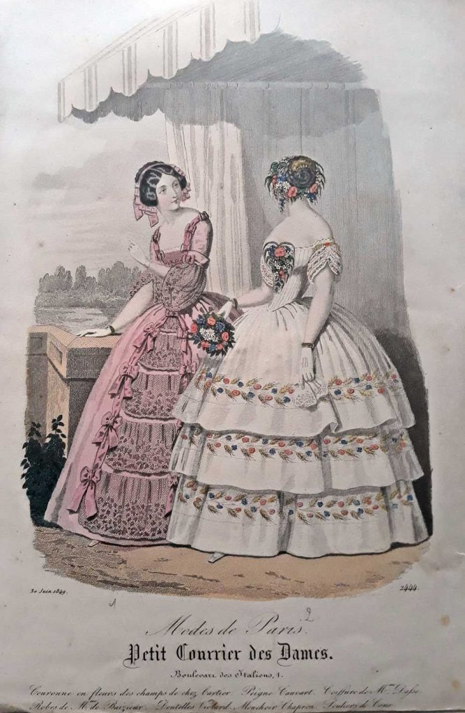 grabados antiguos de moda parisina