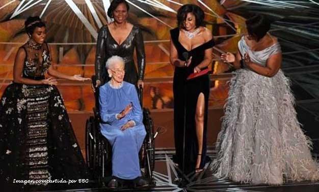 Katherine Johnson en la gala de los Oscars